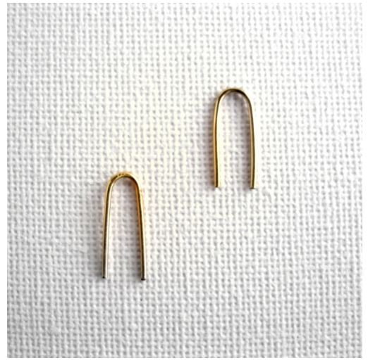 Arc Hoop Minimal Earrings