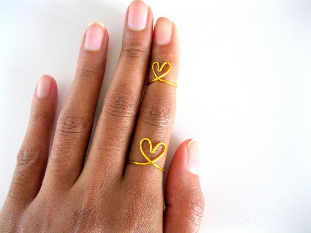 Adjustable Rings Je t'adore set , custom jewelry