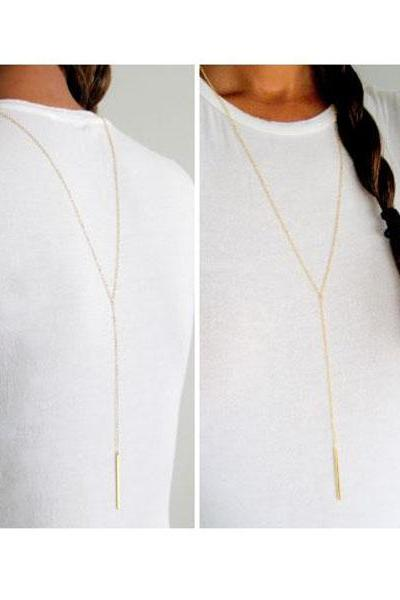 Double Entendre Lariat Necklace