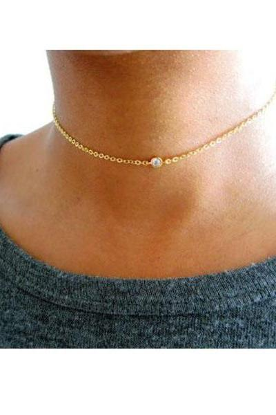 Orbit Gold Diamond Choker
