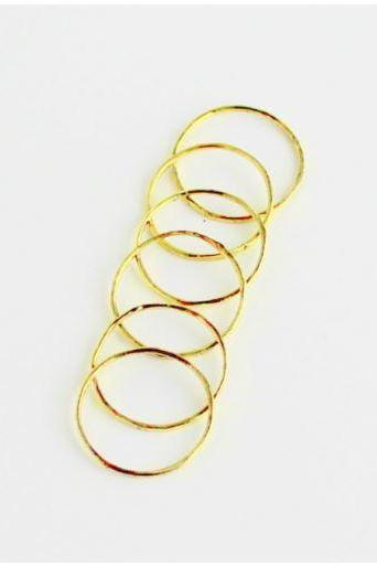 Set of 6 Thin Stacking Rings