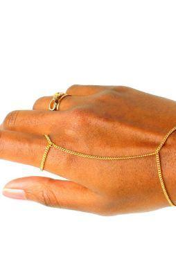 Solid 14k Gold ring bracelet